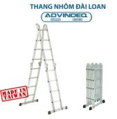 Thang nhôm Đài Loan gấp đa năng 4 đoạn khóa tự động Advindeq T6-165