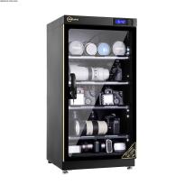 Tủ chống ẩm cao cấp Nikatei NC-100S viền nhôm mạ vàng