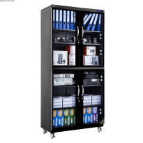 Tủ chống ẩm cao cấp Nikatei NC-600S viền nhôm mạ bạc