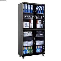 Tủ chống ẩm cao cấp Nikatei NC-600S viền nhôm mạ vàng