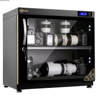 Tủ chống ẩm cao cấp Nikatei NC-80HS viền nhôm mạ vàng